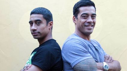 Pua Magasiva (left) and brother Robbie Magasiva in 2011. Photo / NZ Herald