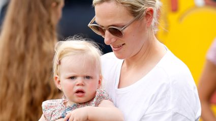 Zara Tindall's baby daughter Lena takes her first public steps during rare family outing!