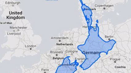 Eye-opening map shows just how big New Zealand is compared to Europe