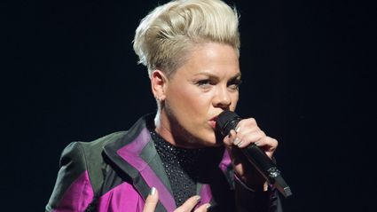 Pink's tour plane burst into flames after crash landing at Danish airport