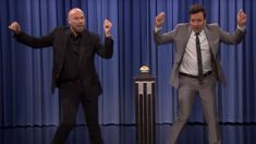 John Travolta has re-enacted his iconic 'Grease' role of Danny Zuko with Jimmy Fallon