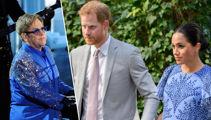 Elton John writes rare statement defending Prince Harry and Meghan Markle amid private jet criticism