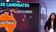 TV station left red-faced after butchering New Zealand on world map during live news broadcast