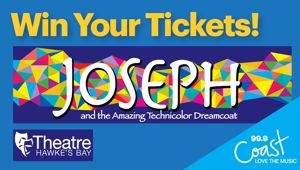 HAWKES'S BAY: Win tickets to Joseph And The Amazing Technicolour Dreamcoat!