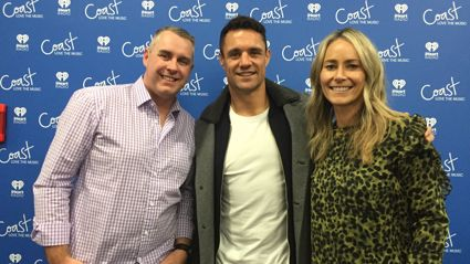 Jason Reeves and former All Black Dan Carter reminisce about the time they filmed an advert together