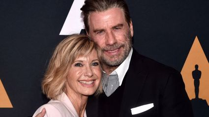 "John Travolta teases fans by saying him and Olivia Newton-John are ""trying to do something together"""
