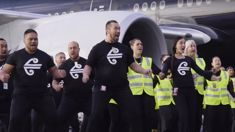 Air New Zealand staff farewell the All Blacks with powerfully passionate haka at Auckland Airport