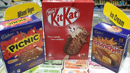 Cadbury and Nestle have just released new chocolate bar inspired ice-creams!