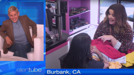 Melissa McCarthy and Ellen DeGeneres play hilarious hidden camera prank on drycleaner