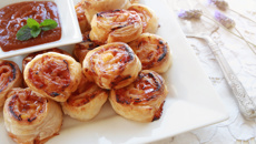 Allyson Gofton's tamarillo chutney and goat's cheese pinwheel scones recipe