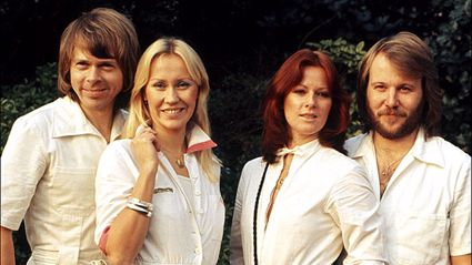 ABBA's Björn Ulvaeus rocks his 1977 jumpsuit for the first time in 42 YEARS with Benny Andersson
