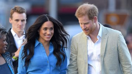 ROYAL TOUR: Baby Archie looks just like Prince Harry as the Sussexes arrive in South Africa