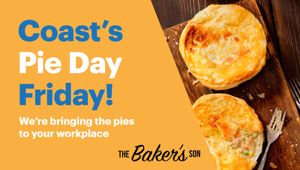 Win a workplace visit from Coast and PIES!