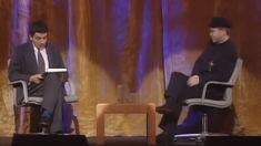This 1991 video of Rowan Atkinson hilariously interviewing Elton John has gone viral