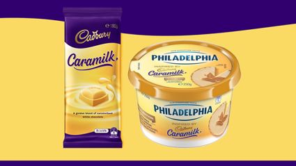 Cadbury Caramilk now comes as Philadelphia Cream Cheese!