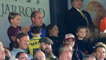 Prince George and Princess Charlotte make surprise appearance with their parents at football game
