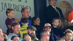Prince George and Princess Charlotte make surprise appearance with Prince William and Kate Middleton at football game