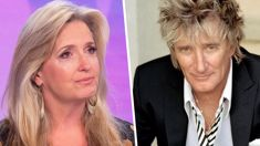 Penny Lancaster breaks down in tears as she speaks about Rod Stewart's aggressive cancer battle