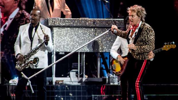 Rod Stewart performs at Ziggo Dome, Amsterdam, Netherlands, May 2019. / Getty Images