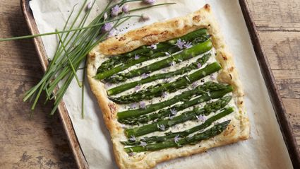 Allyson Gofton's asparagus and cream tart recipe