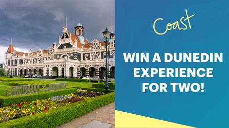 Watch and WIN a VIP weekend away in Dunedin