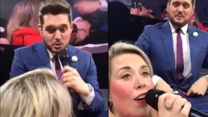 Michael Bublé is left speechless after fan sings flawless rendition of 'Moon River' at concert
