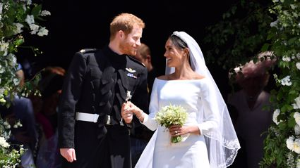 Prince Harry and Meghan Markle share stunning never-before-seen wedding photo