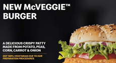 McDonald's spark outrage with new McVeggie burger that isn't suitable for vegetarians
