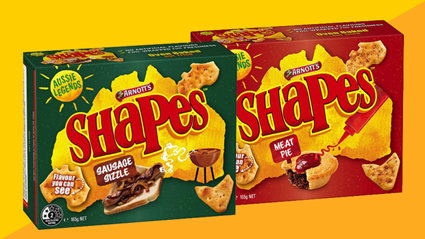 Arnott's announces its releasing new 'Sausage Sizzle' and 'Meat Pie' flavoured Shapes