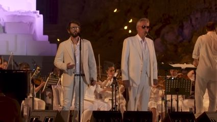 Andrea Bocelli and Josh Groban perform spine-chilling duet 'We Will Meet Once Again' live