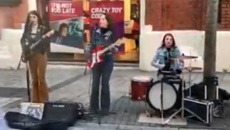Street buskers go viral with their amazing cover of Fleetwood Mac's 'Go Your Own Way'