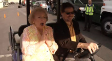Happy 98th birthday Betty White! Watch as she receives a surprise birthday flash mob dance