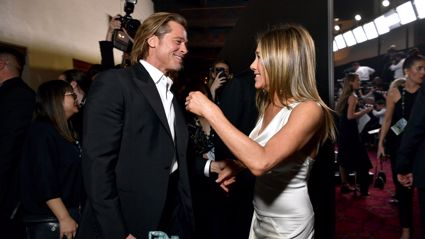 Brad Pitt and Jennifer Aniston share sweet moment at SAG Awards sending fans into a meltdown
