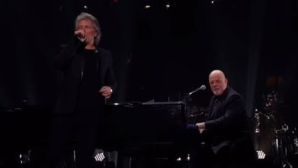 Jon Bon Jovi joins Billy Joel on stage for EPIC duet of 'It's Still Rock and Roll to Me'