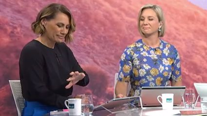 TVNZ's Jenny-May Clarkson proudly shows off her new wedding ring tattoo