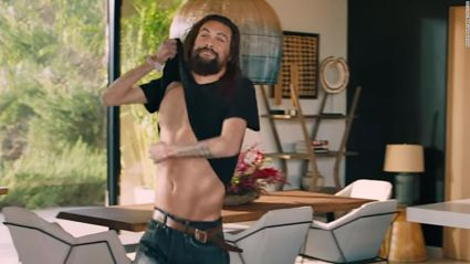 Jason Mamoa strips off to reveal a very unexpected suprise