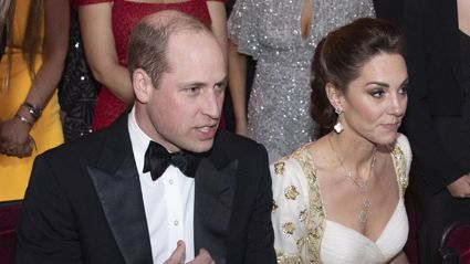 Prince William and Kate Middleton left cringing over royal family jokes at the BAFTA Awards