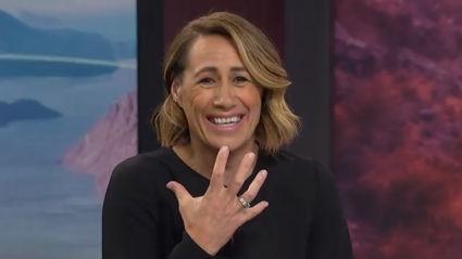 TVNZ's Jenny-May Clarkson cheekily mocks Daniel Faitaua's hilarious winter scarf
