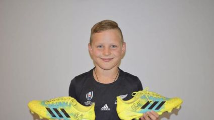 Beauden Barrett rewards boy who auctioned boots to help koalas in Oz fires