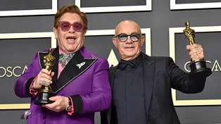 Elton John dedicates his Oscar win to Bernie Taupin with heartfelt acceptance speech