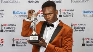 Israel Adesanya wows with powerful speech after winning Sportsman of the Year at Halberg Awards