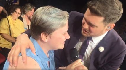 Michael Bublé is left speechless after Australian fan sings flawless rendition of 'Your Song' at concert