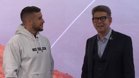 The adorable moment TVNZ's John Campbell fanboys over All Black TJ Perenara after surprise visit