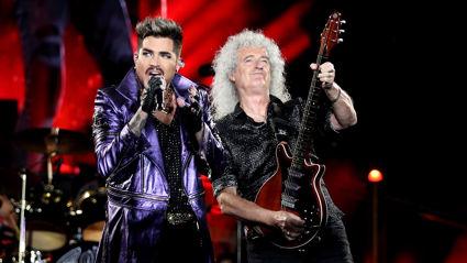 Queen and Adam Lambert perform rocky cover of Elvis Presley's 'Heartbreak Hotel'