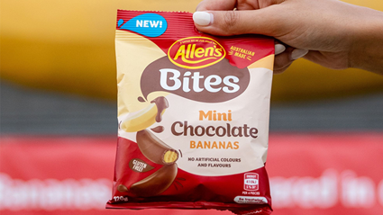 Allen's has released chocolate covered banana lollies!