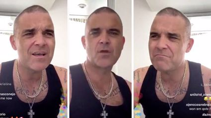 Robbie Williams treats fans to joyous 90-minute karaoke session at home