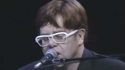Happy birthday Elton John! Watch his rare and powerful performance of his John Lennon tribute song