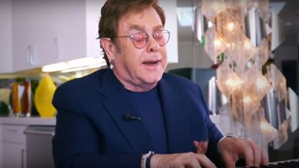 Elton John performs 'Don't Let the Sun Go Down On Me' during star-studded living room concert
