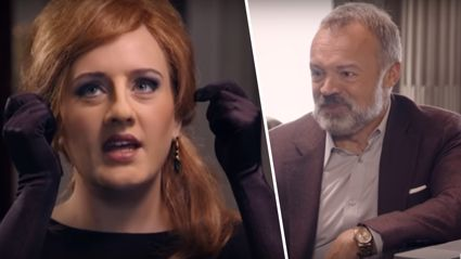 Adele and Graham Norton hilariously prank a room full of the singer's impersonators