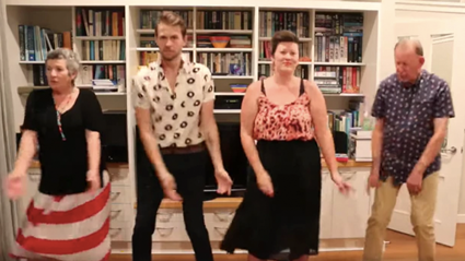 WATCH: Wellington family's hilarious 'lockdown boogie' goes viral